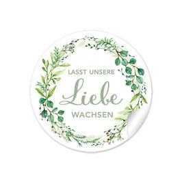 """""""Lasst unsere Liebe wachsen"""" - Zweige - grün"""