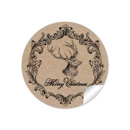 """""""Merry Christmas""""- Hirsch Vintage - Kraftpapier Look"""