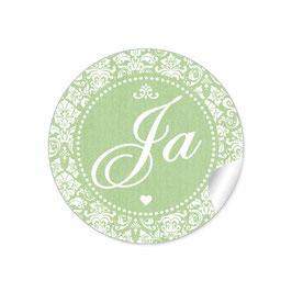 """Ja"" - Shabby Chic Style - grün"