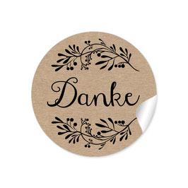 """Danke"" - Blütenzweig - Kraftpapier Look"