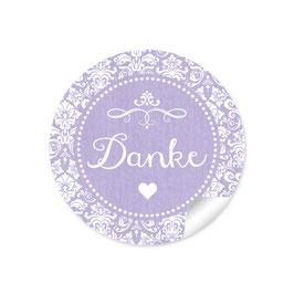 """Danke"" - Vintage Ornamente - lila"