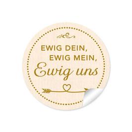 """""""Ewig dein, ewig mein, ewig uns""""- Shabby Chic Style - creme"""
