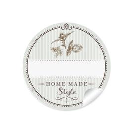 """Home Made Style""- Kräuter - hellgrün - mit Freitextfeld"