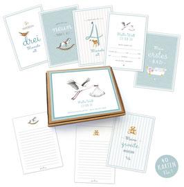 NEU!  40 Baby Meilenstein Karten Geschenkset No.1 • A6 Karten