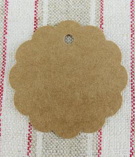 Geschenkanhänger für Etiketten - braun - 6 cm