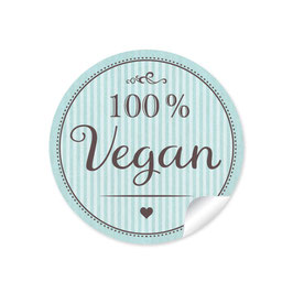 """100% Vegan"" - mint"