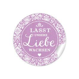 """Lasst unsere Liebe wachsen"" - Shabby Chic - dunkel lila"