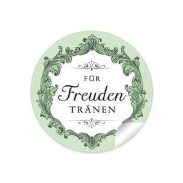 """""""Für Freudentränen"""" - Ornamente Floral - schwarz / grün"""