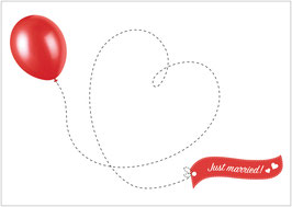 """Just Married""  - Ballon - Weiß"