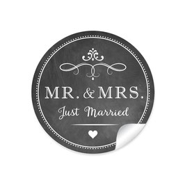 """MR. and MRS.  - Just married"" - Vintage Retro - Kreidetafel / schwarz"