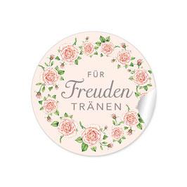 """""""Für Freudentränen"""" - Rosenkranz - creme / apricot / rosa"""