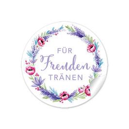 """Für Freudentränen"" - Lavendel Mohnblume - lila rot grün"