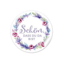 """""""Schön, dass du da bist"""" - Lavendel Mohnblume -lila rot"""