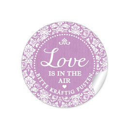 """Love ist in the Air"" - Shabby Chic - dunkel lila"