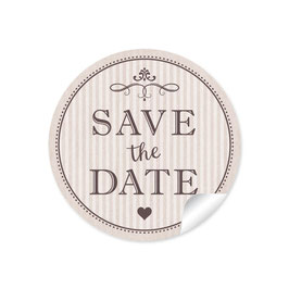 """Save the Date"" - Vintage Ornamente - beige"