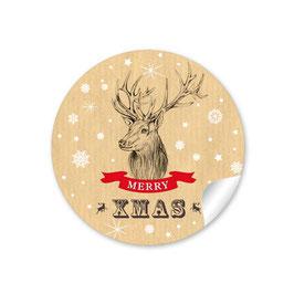 """""""Merry XMAS""""- Weihnachtshirsch - Natur"""