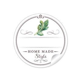 """Home Made Style""- Basilikum - weiß"