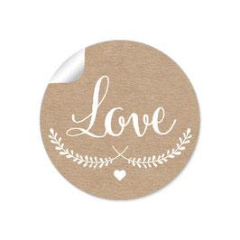 """""""LOVE"""" - Natur weiß"""