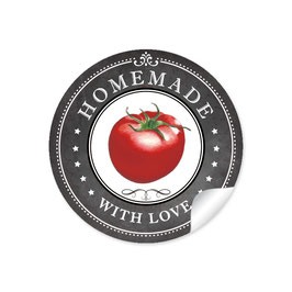 """Homemade with Love""- Tomate - schwarz"