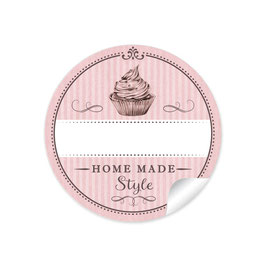 """Home Made Style""- Cupcake - rosa"