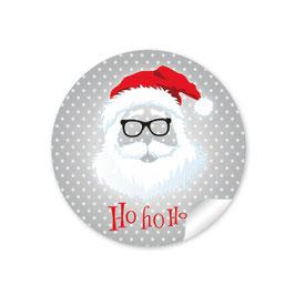 """""""Ho Ho Ho"""" -  Hipster Nikolaus - grau"""