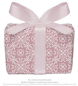 3 Bögen Geschenkpapier groß - Ornamente - Berry