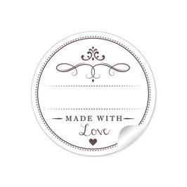 """""""Made with Love""""- weiß - mit Freitextfeld"""