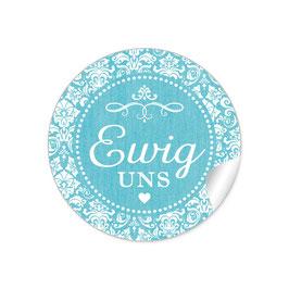 """Ewig uns""- Ornamente - türkis"