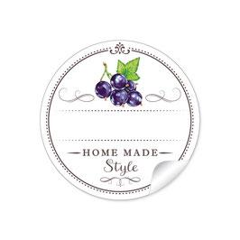 """""""Home Made Style""""- Johannisbeere schwarz - weiß"""
