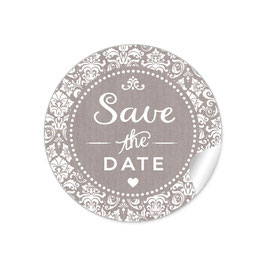 """Save the Date"" - Vintage  Retro Ornamente - sand"