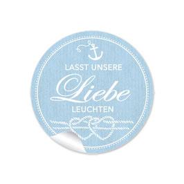 """""""Lasst unsere Liebe leuchten""""- Maritim blau Anker Knoten"""
