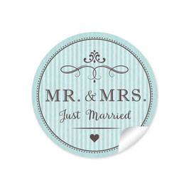 """MR. and MRS.  - Just married"" - Vintage Retro - mint"