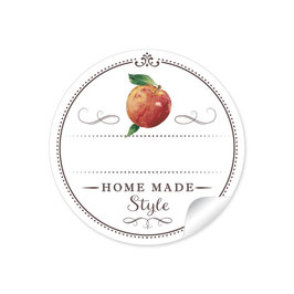 """Home Made Style""- Apfel - weiß"