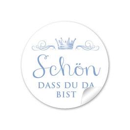 """""""Schön, dass du da bist"""" - Krone  - blau"""