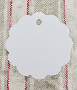 Geschenkanhänger für Etiketten - weiß - 6 cm