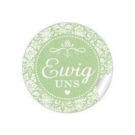 """Ewig uns""- Ornamente - grün"