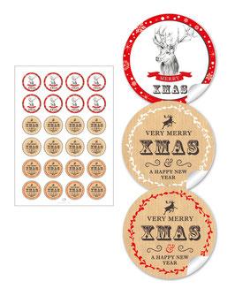 """""""Merry XMAS""""- Weihnachtshirsch - gemischt"""