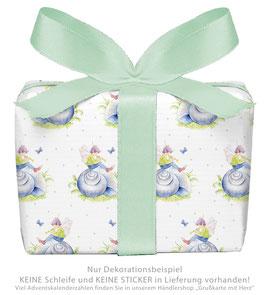 3 Bögen Geschenkpapier groß - ELFE