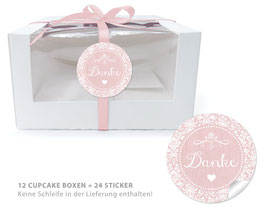 "BIO BOX SET - ""Danke"" Shabby Chic - rosa"