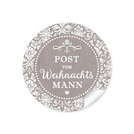 """""""Post vom Weihnachtsmann"""" -  Retro Vintage - sand"""