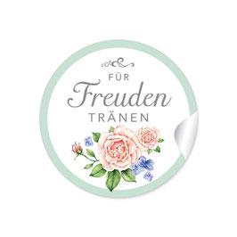 """Für Freudentränen"" - Rosen - grün / rosa"