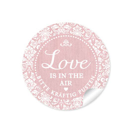 """Love ist in the Air"" - Shabby Chic - rosa"