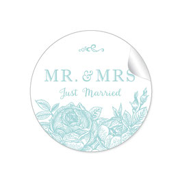"""MR. and MRS.  - Just married"" - Rosen- mint"