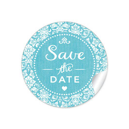 """Save the Date"" - Vintage  Retro Ornamente - türkis"