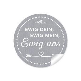 """""""Ewig dein, ewig mein, ewig uns""""- Shabby Chic Style -grau"""
