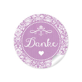 """Danke"" - Ornamente Vintage - dunkel lila"