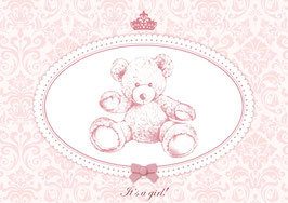 """It´s a girl!"" - Teddy - Rosa"
