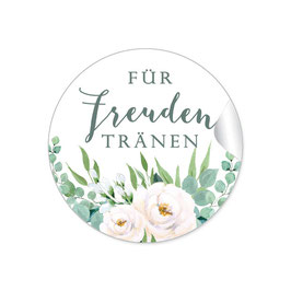 Für Freudentränen - Rosen Blüten weiß grün
