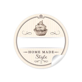 """Home Made Style""- Cupcake - creme"