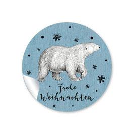FROHE WEIHNACHTEN - Eisbär blau